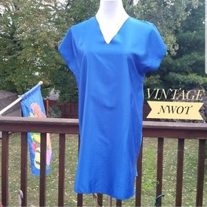 VINTAGE Royal Blue Sleep Shirt Chemise Coverup